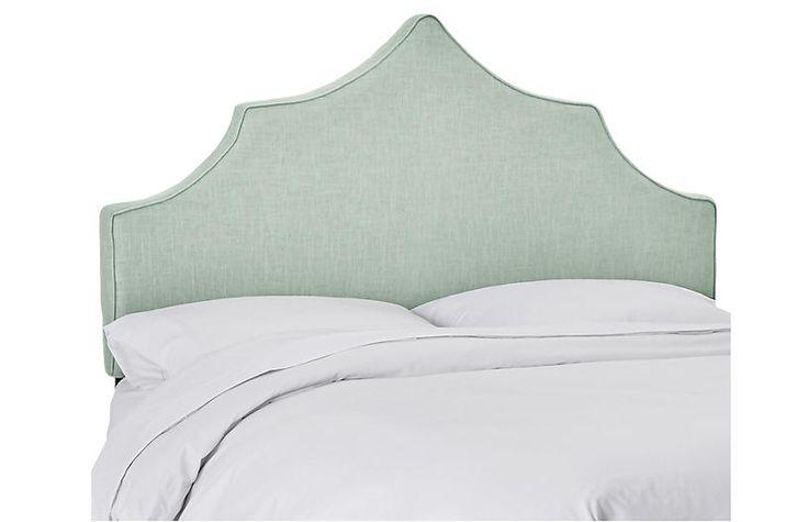 Best Camille Headboard Mint Linen Furniture Linen 400 x 300