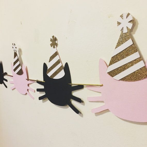 Kitty cat garland by Fancymycupcake on Etsy