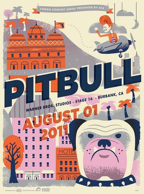 conan concert series: pitbull. tad carpenter.
