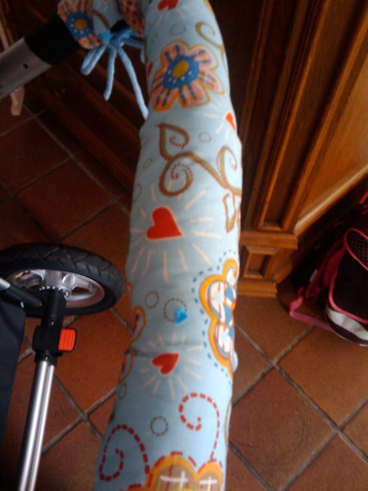 Tutorial für einen neuen Kinderwagen Bügel Bezug, diy Kinderwagenbuegel, Buggy Buegel, griffpolster, Griff nähen