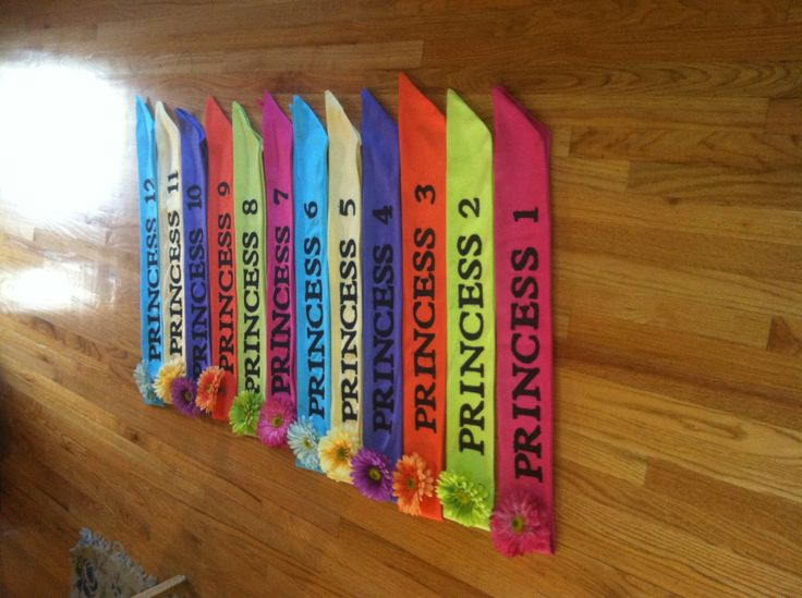 Sashes I sewed for the princesses of Once Upon a Mattress musical.