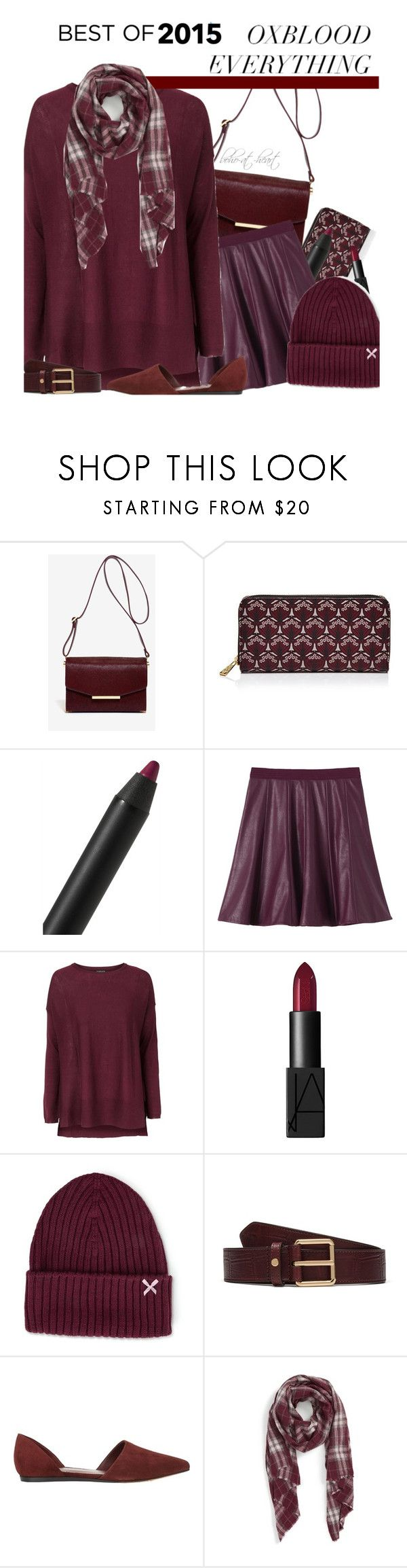 """""""Trends of 2015: Oxblood"""" by boho-at-heart ❤ liked on Polyvore featuring Ted Baker, Liberty, Burberry, Rebecca Taylor, Topshop, NARS Cosmetics, Silver Spoon Attire, Mulberry, Vince and Sole Society"""
