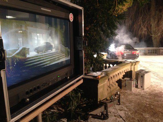 Nice Filmfahrzeuge von Carsformovies de hier aktuell im Bild bei Werbeproduktion