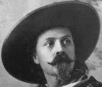 Tipos de bigotes - Búfalo Bill. Jesse James llevaba perilla y bigote similar cuando estuvo en el ejercito Confederado. Ike Clanton, involucrado en el tiroteo de OK Corral contra los Earp, lucía uno similar pero con la perilla algo más corta.