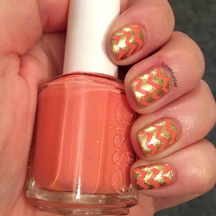 17 Best Ideas About Orange Nail Art On Pinterest