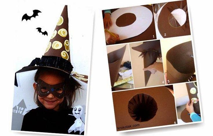 mutlu anne babalar mutlu çocuklar: çocuğunuza kartondan cadı şapkası yapın ve beraber...