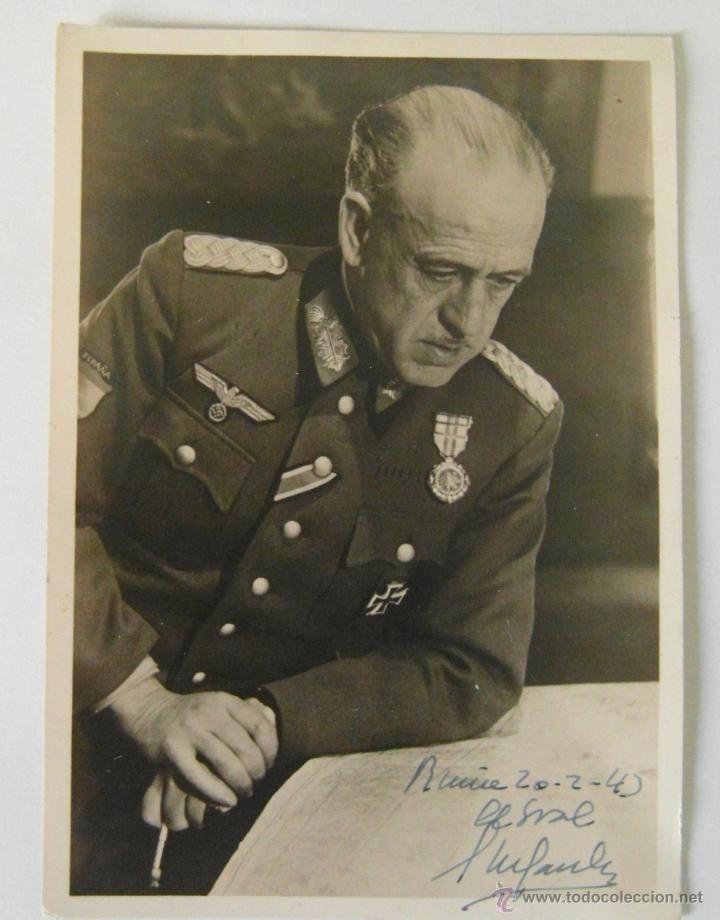 ESPECTACULAR POSTAL DEL GENERAL ESTEBAN INFANTES. FIRMADA EN RUSIA EN 1943.DIVISION AZUL. (Militar - Fotografía Militar - II Guerra Mundial)