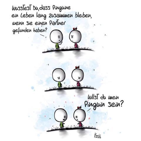 See More. 🎨☺ Wusstest #du,dass #Pinguine🐧 Ein #Leben Lang #
