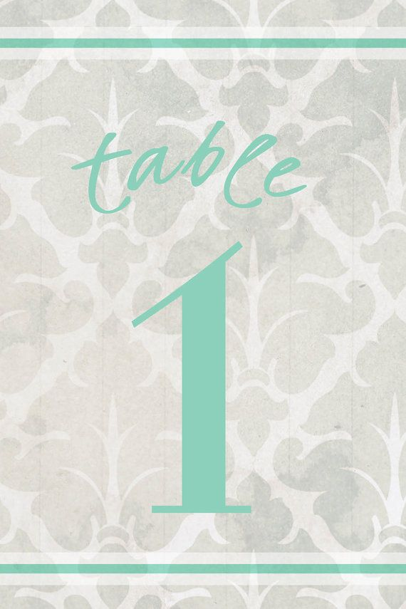 Table Numbers Ready to Print 4x6 set of 15 by GoToGirlSignDesigns, $18.00