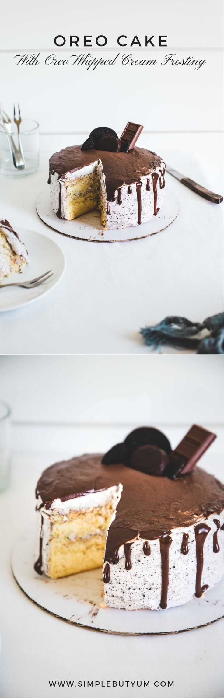 Soft and moist cake with creamest heavy whipped cream includes Oreo crushes. It is an easy and simple cake for Oreo love…