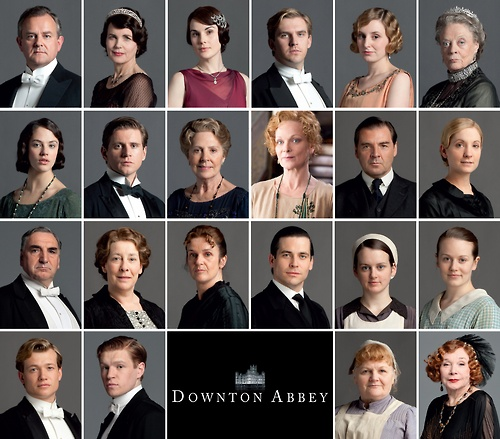Season 3 cast of Downton Abbey