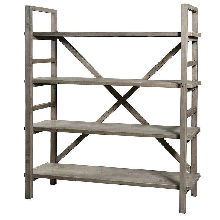 Farmhouse Baker Rack | Reclaimed Wood Farm House Bookshelf| Zin Home