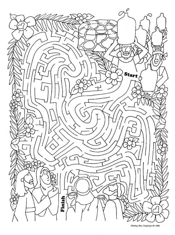 76 best images about wedding at cana on pinterest for Wedding at cana coloring page