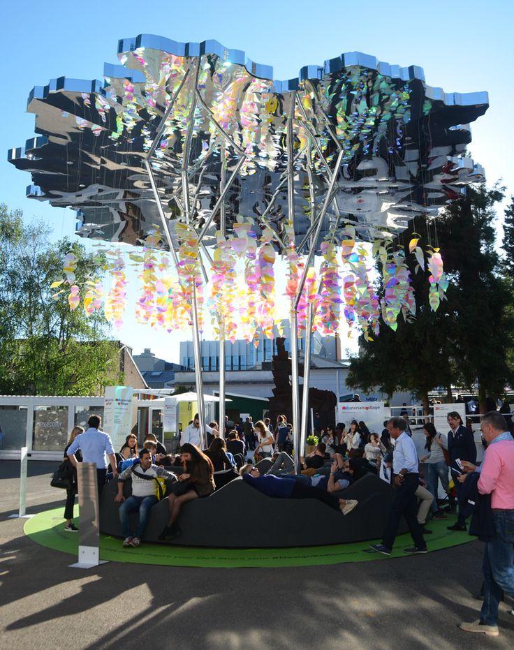 3M design collaborates with stefano boeri on urban tree lounge for milan design week
