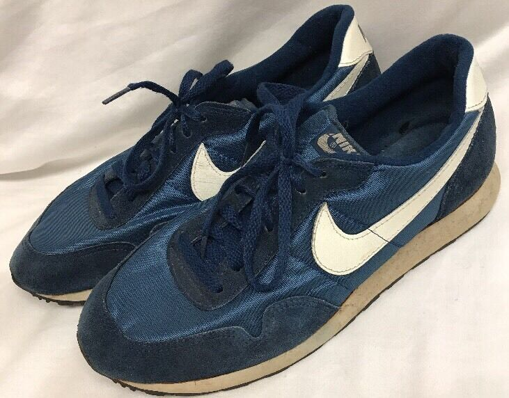 Ebay Ad Vintage 1980s Nike Tennis Shoes Size 10 Blue Made In Korea Nike Tennis Shoes Mens Hiking Boots Nike Tennis