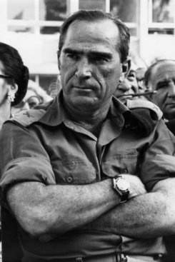 Rafi Eitan, Mossad Commander that put together a team to kidnap Nazi Adolf Eichmann who was responsible for killing 6 millinon Jews, and bring him to Isreal alive.  He had been found, by blind piano teacher's whos daughter had briefly dated his son.  The son had used the name Eichmann and  tipped of Isreal's secret service.  Eichmann was found living undr the name Riccardo Klementin in an isloted house outside of Buenos Aires, Argentina in the town of San Fornando in May of 1960.