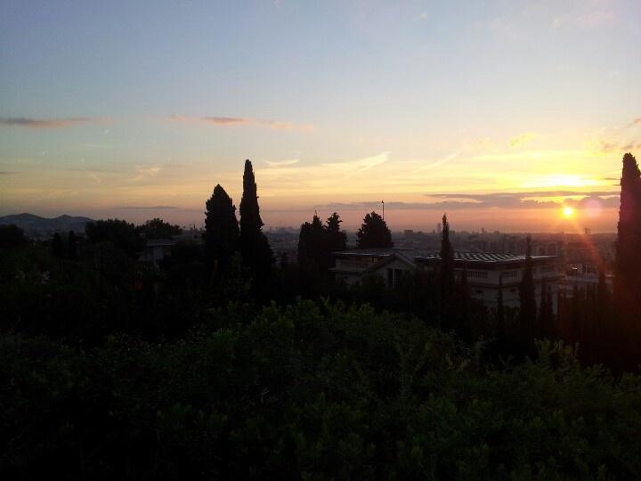Widok z campusu IESE na Barcelonę