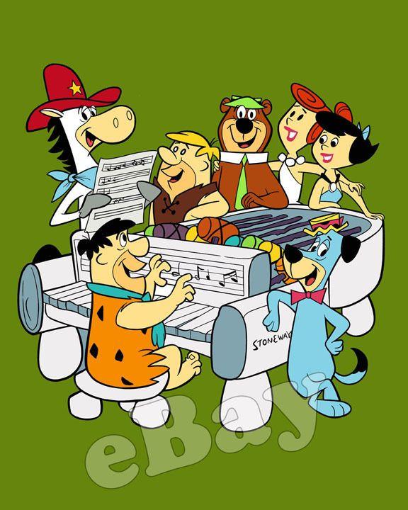 RARE Flintstones Yogi Bear Quick Draw McGraw Cartoon Photo Hanna Barbera Studios   eBay