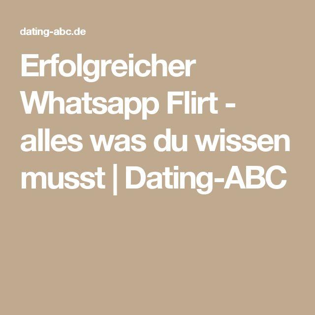 Erfolgreicher Whatsapp Flirt - alles was du wissen musst | Dating-ABC