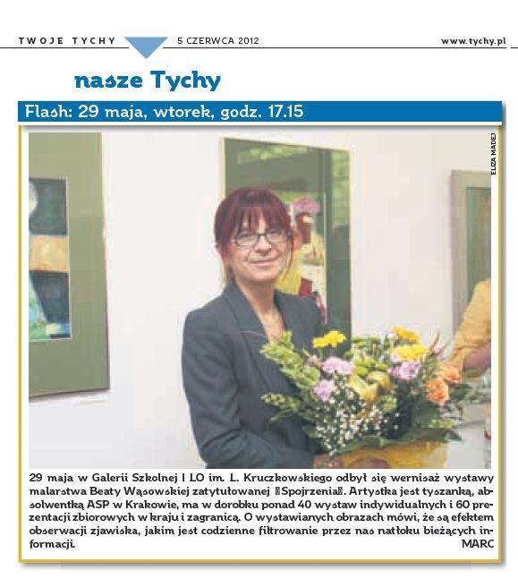 Beata Wąsowska, wystawa SOJRZENIA, Tychy 2012