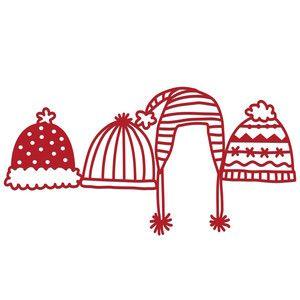 Silhouette Design Store: warm winter hats border