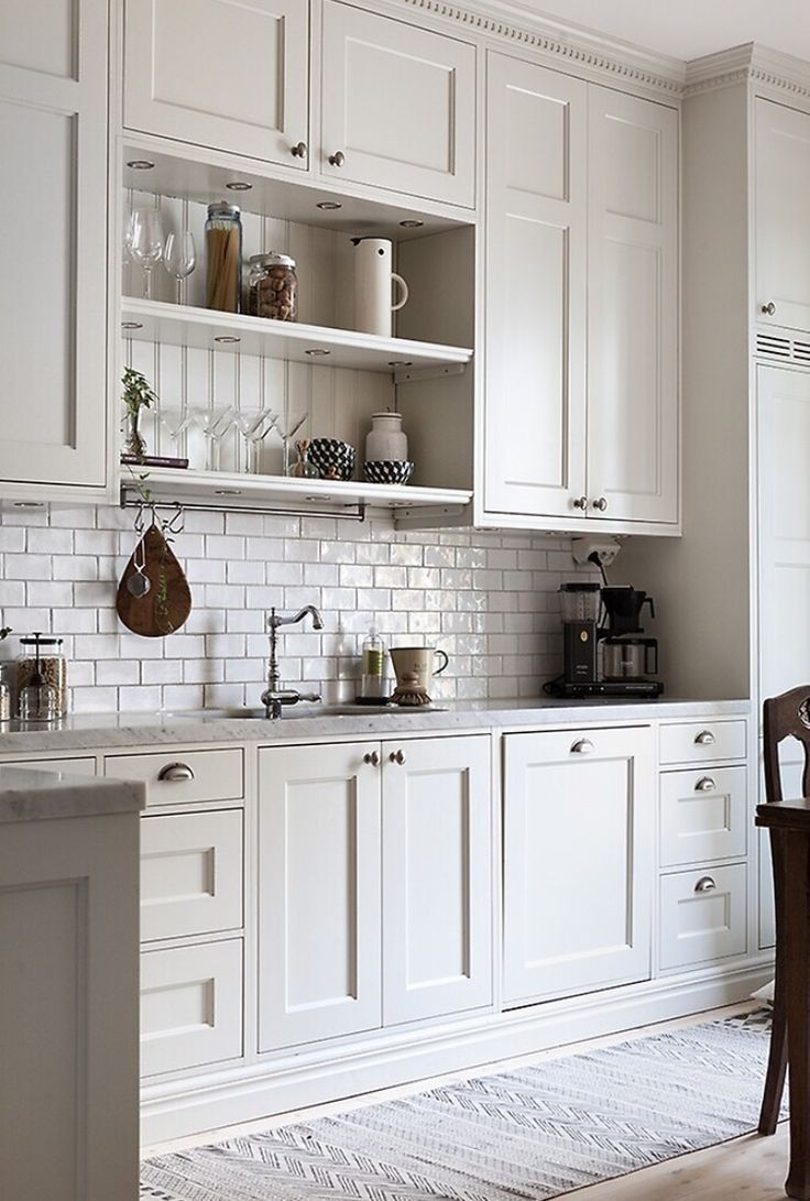 White Kitchen Cabinets That Go To Ceiling Kitchen Cabinet Design Kitchen Renovation Farmhouse Kitchen Cabinets