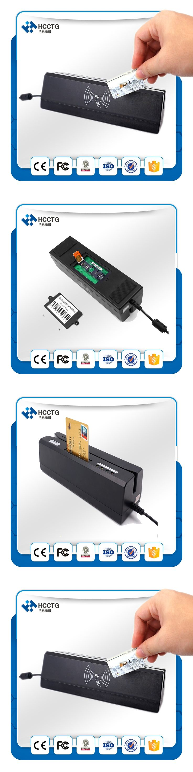 Magnetic Stripe IC Card Psam Card & RFID Card Combo reader&writer HCC80