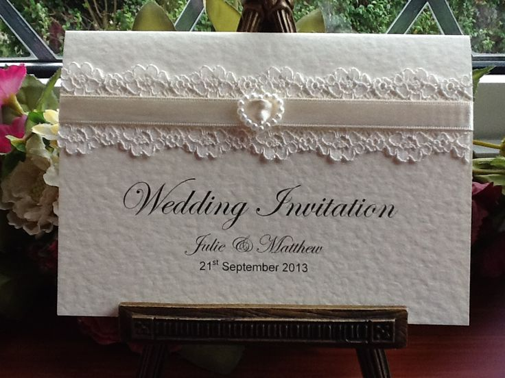 esküvői meghívó csipkével