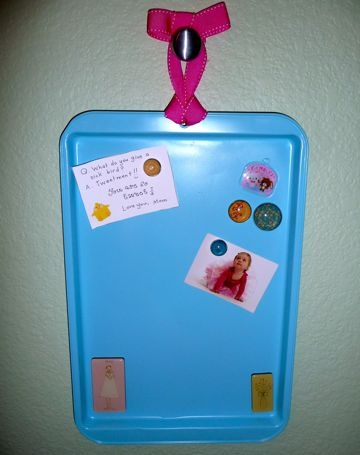 cookie sheet magnet board kids can pick their color and make magnets to match