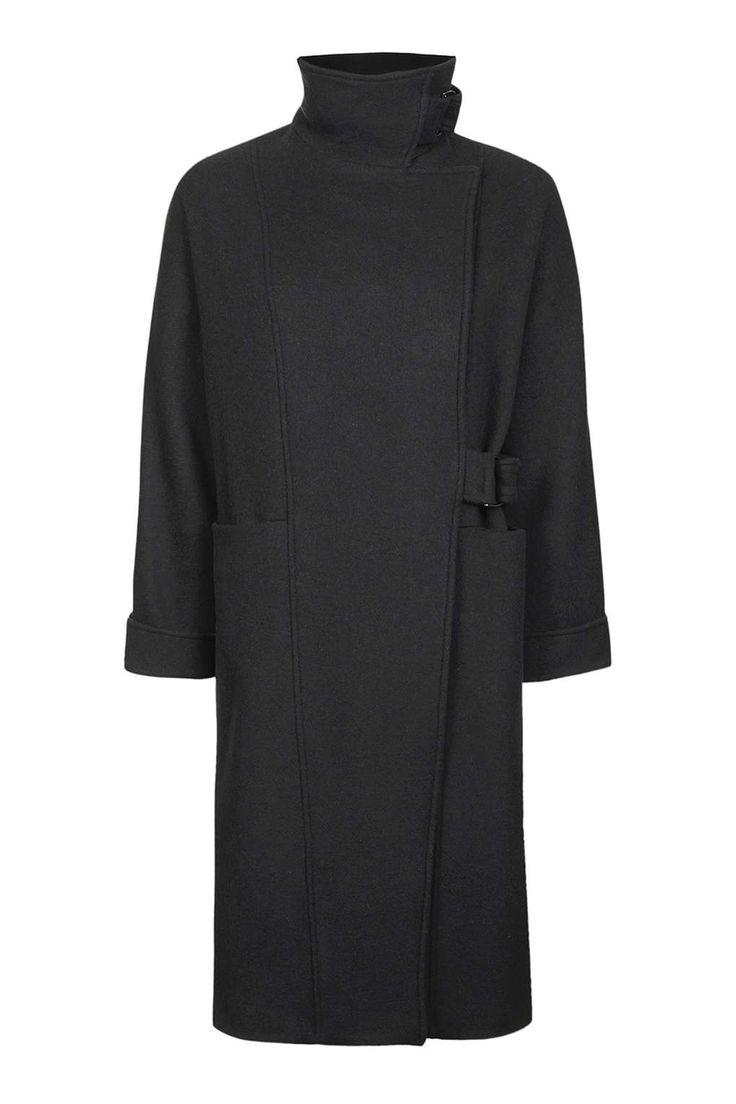 '80s Wool Coat - Jackets & Coats - Clothing - Topshop