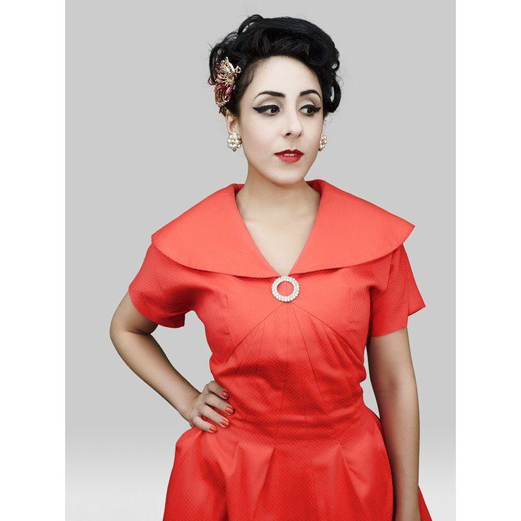 1950s Fashion / Vintage 1950s Dress / 50s Dress / 50s Party Dress / Prom Dress  / Red Dress / Holiday Dress / Pinup Dress / Viva Las Vegas by DnJVintage on Etsy https://www.etsy.com/listing/209928243/1950s-fashion-vintage-1950s-dress-50s