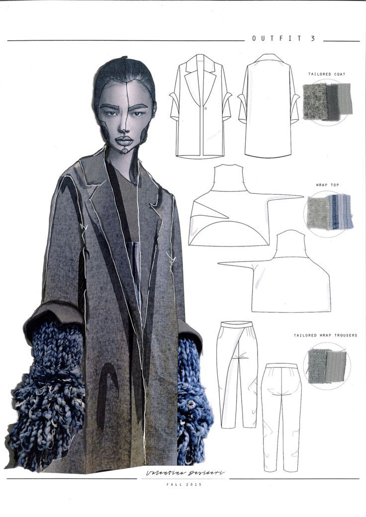 follow me @cushite Fashion Sketchbook - knitwear design with reconstructed tailoring; fashion drawings; fashion portfolio // Valentina Desideri