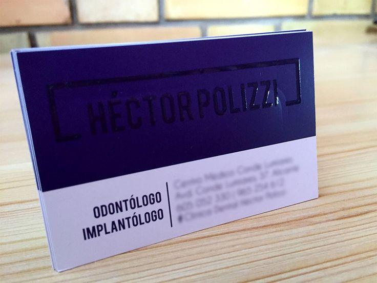 Diseño de tarjetas de visita profesionales con barniz UV para una clínica dental en Alicante. // #diseño #diseñografico #tarjetasdevisita #Alicante #estudiodiseño