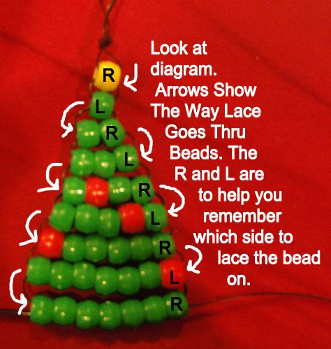 How to Make a Pony Bead Christmas Tree Ornament « Beads « Crafts With « Kids Crafts & Activities