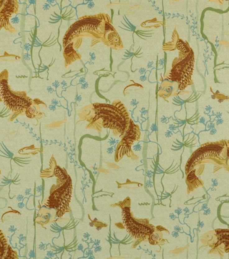 Upholstery Fabric Covington Carpe Diem 220 Seagrass Fishes Joann Fabric For Furniture