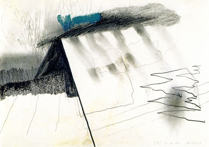 Gerhard Richter : 26.8.1985 (2), 1985. Grafite e pastel s/ papel, 21x29,7 cm