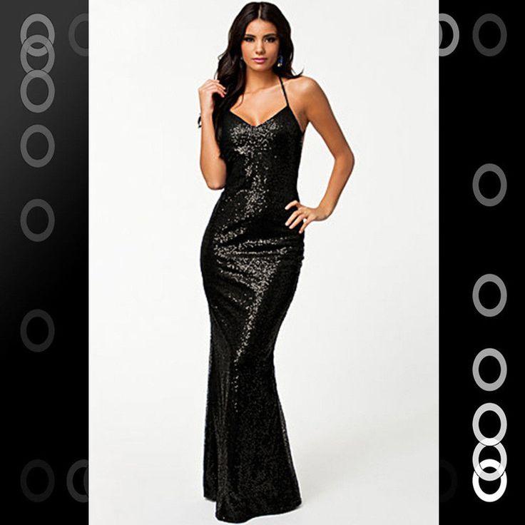 Low cut black party dresses