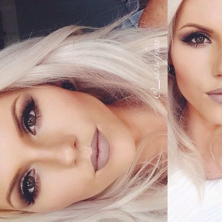 Taupe Lips with platinum blonde hair. Love the lip color... Anyone know where I can find it?