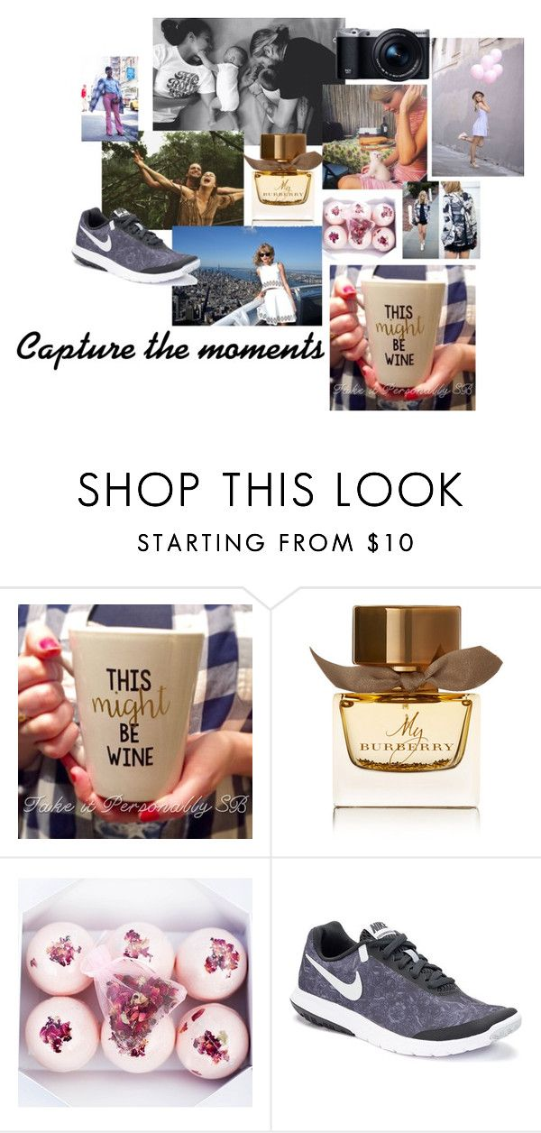 """""""Capture the Moments"""" by emily-hutchin on Polyvore featuring Samsung, Burberry and NIKE"""