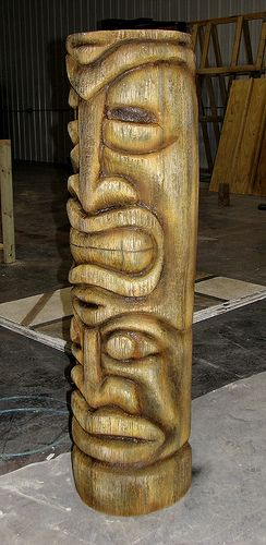 Unique tiki statues ideas on pinterest faces