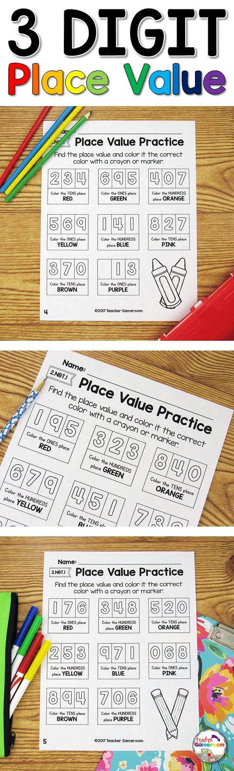 best 25 place value worksheets ideas only on pinterest math worksheets 4 kids second grade. Black Bedroom Furniture Sets. Home Design Ideas