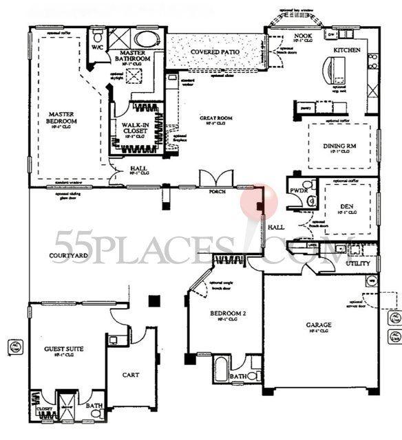 Mayflower Floorplan 2707 Sq Ft Sun City Anthem 55 Places Floor Plans Sun City May Flowers