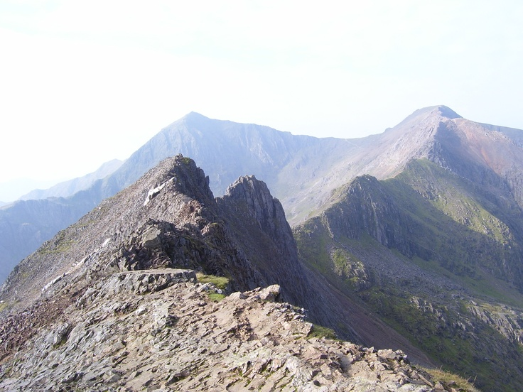 Crib Goch Ridge, Snowdon - the only route up Snowdon I haven't done