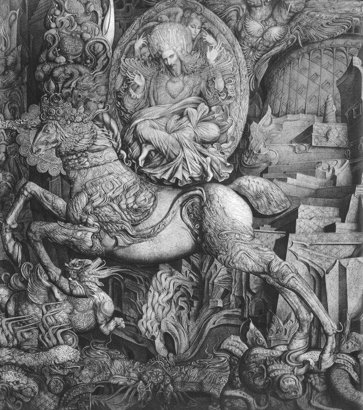 "Triumph of Christ"" by Ernst Fuchs /  / ""Triunfo de Cristo"" de Ernst Fuchs   http://www.ernstfuchs-zentrum.com/"