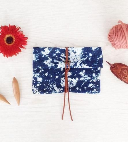 Abstract Denim Clutch | Handmade by leila + olive