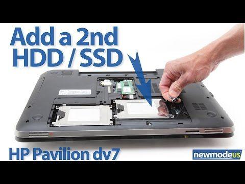 ▶ Hp dv7t, dv7 6xxx series 2nd HDD / SSD installation (dv7-6000 cable) - YouTube