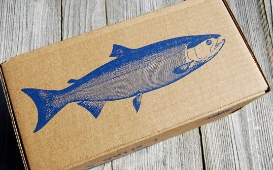 The Sitka Salmon Shares Packaging is Artfully Illustrated #paper #packaging trendhunter.com