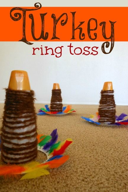 A Thanksgiving turkey ring toss -- an excellent activity for the kids to do on Thanksgiving.