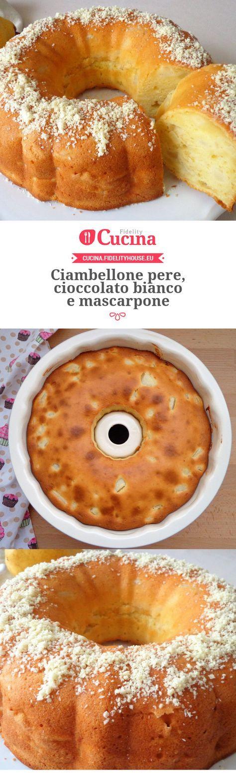 Ciambellone #pere, #cioccolato bianco e #mascarpone della nostra utente Magdalena. Unisciti alla nostra Community ed invia le tue ricette!