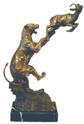 Lioness And Buck Bronze Collection BR23504 | Products Offered | Auldco African Handcraft
